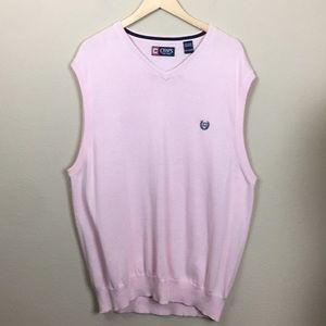 Men's Chaps Pink V Neck Pullover Sweater Size XXL